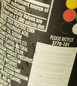high fructose corn syrup label